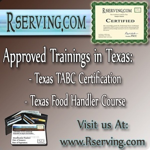 Texas Food Handler and Texas TABC alcohol license course